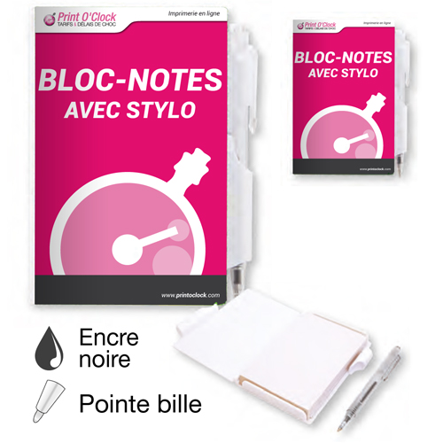 Blocs notes avec stylo