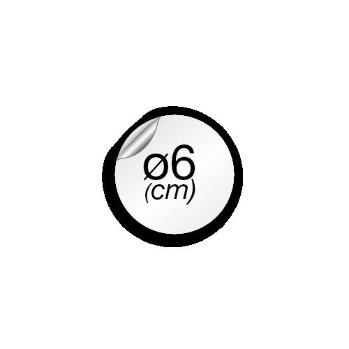 6 cm de diamètre