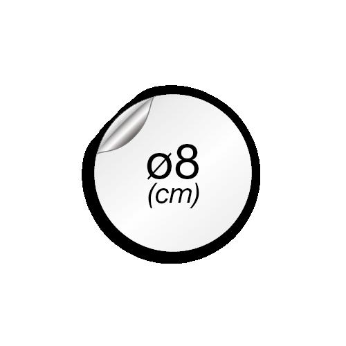 8 cm de diamètre